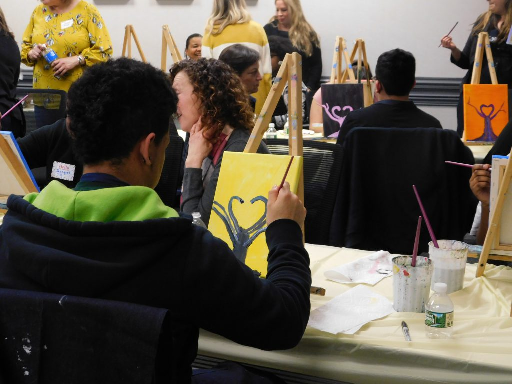 Our volunteer mentors and HFY youth recently came together for the initial session of 2019 STEAM Academy. Art was the focus of the evening and the session was facilitated by artist, Amanda Hawthorne, of Live Well Paint Often. Mentors and youth alike...                   </div>